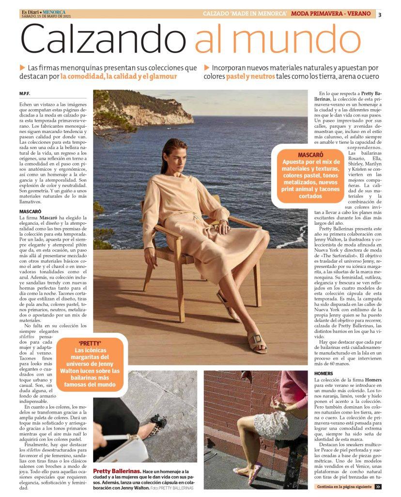 DIARIO MENORCA CON AFCM page 0003 Asociación de fabricantes de calzado de Menorca