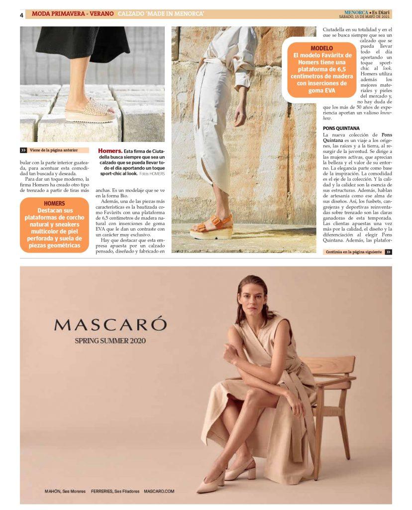 DIARIO MENORCA CON AFCM page 0004 Asociación de fabricantes de calzado de Menorca