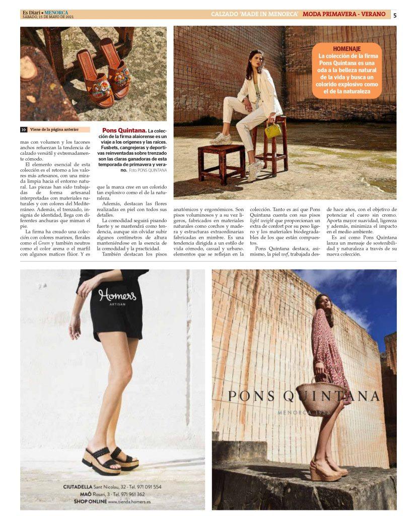 DIARIO MENORCA CON AFCM page 0005 Asociación de fabricantes de calzado de Menorca