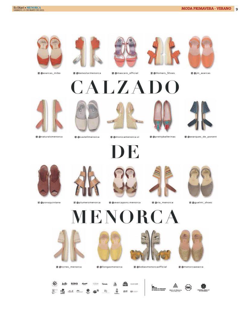 DIARIO MENORCA CON AFCM page 0009 Asociación de fabricantes de calzado de Menorca